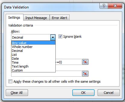 کنترل ورود داده ها (Data Validation) - سایت هدف آموزش