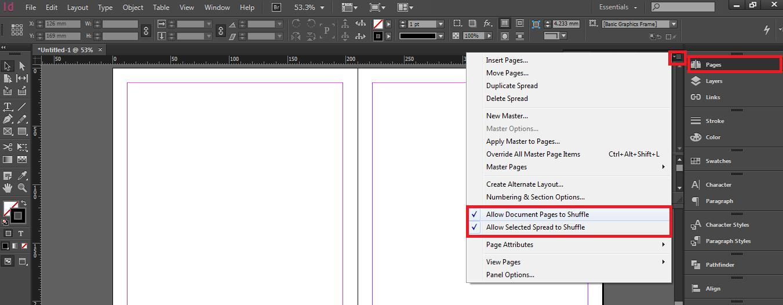 مدیریت صفحات در ایندیزاین