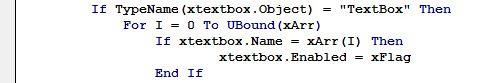 فعال یا غیر فعال کردن کنترل ها در فرم های اکسل